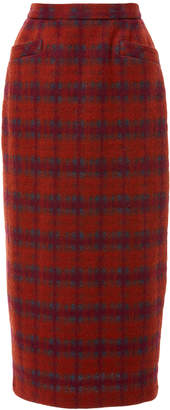 Anna Sui Brushed Tartan Skirt