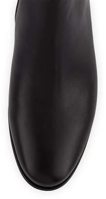 Neiman Marcus Amye Embellished-Heel Leather Booties