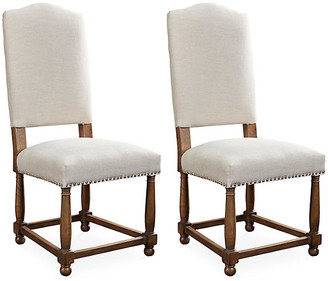 One Kings Lane Herringbone Nantucket Side Chairs - Set of 2