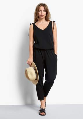 Hush Cropped V Neck Jumpsuit