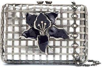 Isla embellished metal clutch