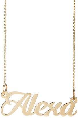 "Bianca Pratt Women's ""Alexa"" Nameplate Necklace - Gold"