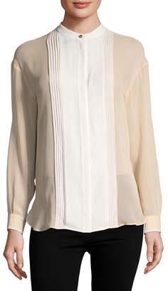 Roberto Cavalli Silk Pleated Blouse