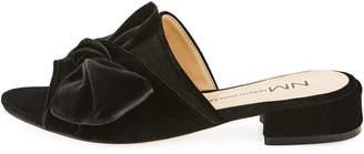 Neiman Marcus Sancha Knotted Velvet Slide