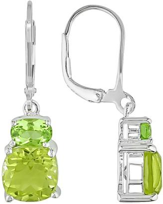 Stella Grace Sterling Silver Peridot and Lemon Quartz Drop Earrings