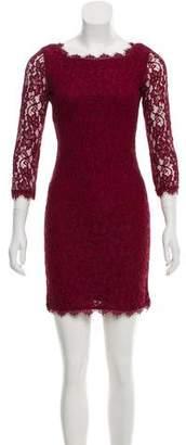 Diane von Furstenberg Zarita Lace Long Sleeve Mini Dress