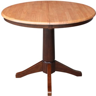 International Concepts Round Pedestal Dining Table & Leaf