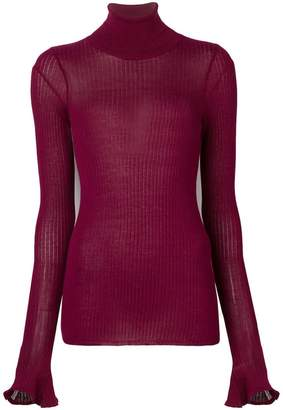 Victoria Beckham turtleneck sheer jumper