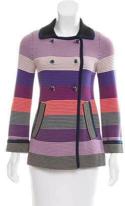 Marc by Marc Jacobs Striped Double-Breasted Jacket
