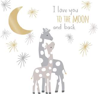"Lambs & Ivy Moonbeams ""Love You To The Moon"" Giraffe Wall Applique Set"