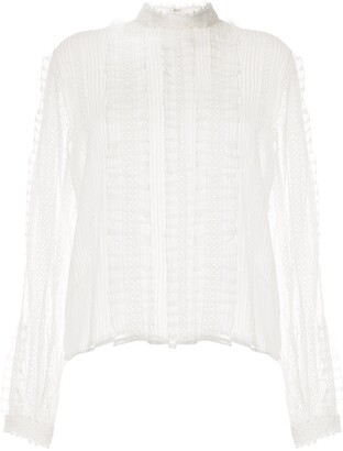 Ingie Paris sheer silk blouse