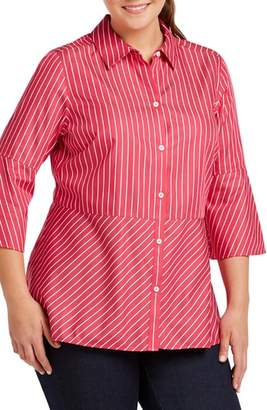Foxcroft Estelle Non-Iron Stripe Sateen Shirt