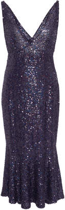 Naeem Khan Sequined Stretch-Silk Dress