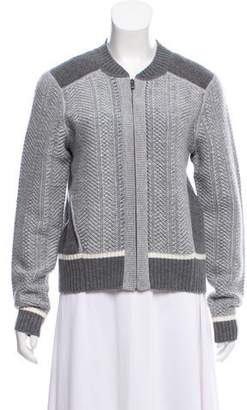Duffy Wool Zip-Up Cardigan w/ Tags