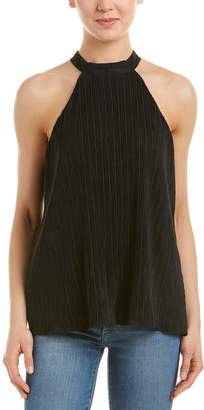 Nell Textured Silk-Trim Top