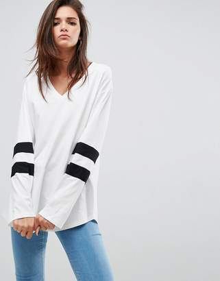 Asos DESIGN T-Shirt with Sport Blocking in Super Oversized Fit