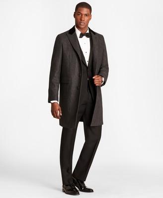 Brooks Brothers Herringbone Wool-Cashmere Chesterfield Coat