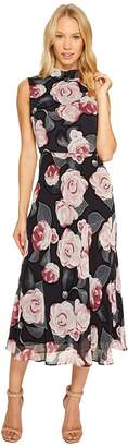 Taylor Floral Print Chiffon Maxi with Tie Back Women's Dress