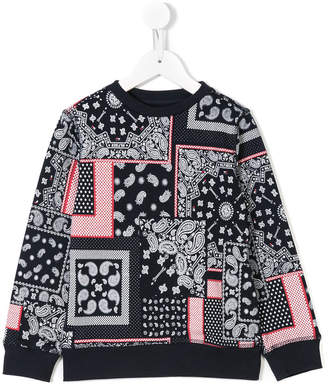 Tommy Hilfiger Junior paisley-print sweatshirt