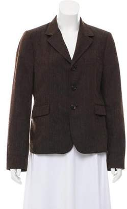 Marni Pinstriped Wool Blazer Brown Pinstriped Wool Blazer
