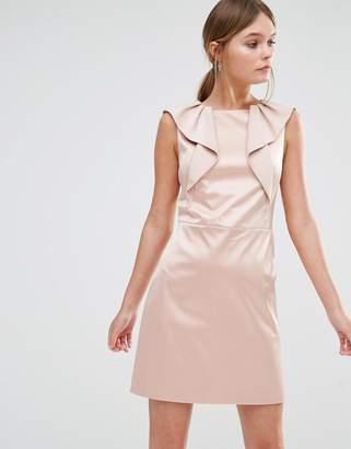 Oasis Satin Ruffle Shift Dress