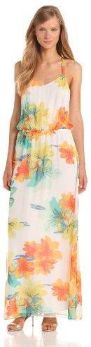 Ella Moss Women's Hibiscus Floral Maxi Dress