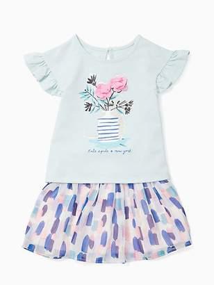 Kate Spade Infant flower cat skirt set