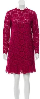 Valentino Long Sleeve Lace Dress Long Sleeve Lace Dress