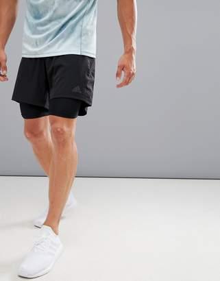 adidas Dual 2-In-1 Shorts In Black BQ7245