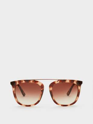 DKNY Square Sunglasses With Brow Bar