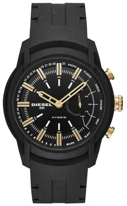 Diesel R) Armbar Hybrid Silicone Strap Smart Watch, 44mm