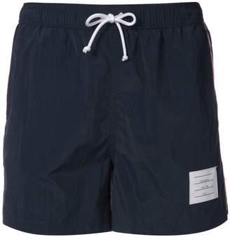 Thom Browne signature stripes swim shorts