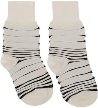 Issey Miyake White Ikat Socks