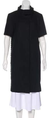 Jenni Kayne Beaded-Trimmed Knee-Length Coat