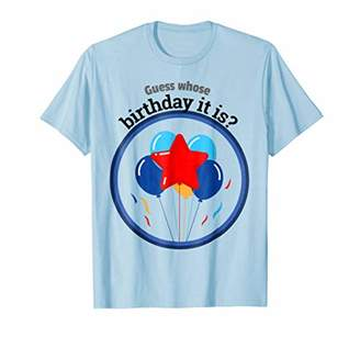 GUESS whose birthday it is shirt celebration balloons Unisex