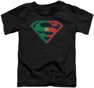 Superman DC Comics Portugal Flag Shield Little Boys Tod Tee