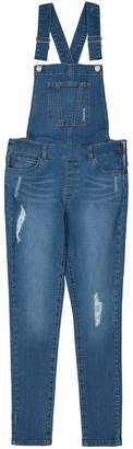 La Redoute Collections Distressed Denim Dungarees, 10-16 Years