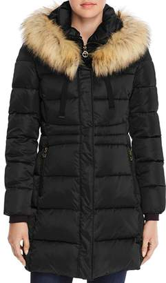 T Tahari Stefani Fitted Puffer Coat