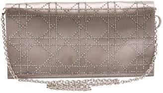 Christian Dior Silver Cloth Clutch Bag