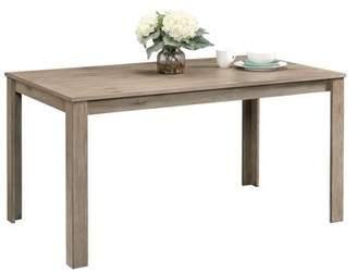 Sauder New Grange Modern Farmhouse Dining Table, White Pine Finish