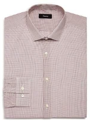Theory Windowpane Slim Fit Poplin Dress Shirt