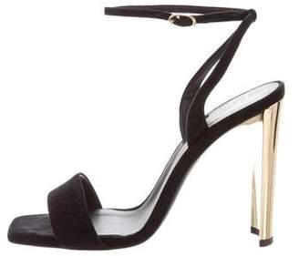 Giuseppe Zanotti Suede Square-Toe Sandals