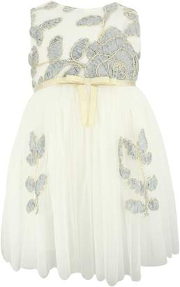 Popatu Flower Embellished Tulle Dress