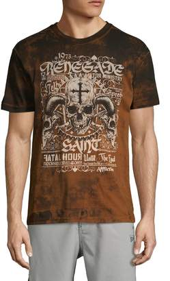 Affliction Logo Graphic Cotton High-Low Tee