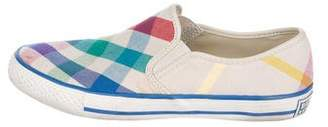 Burberry Woven Slip-On Sneakers