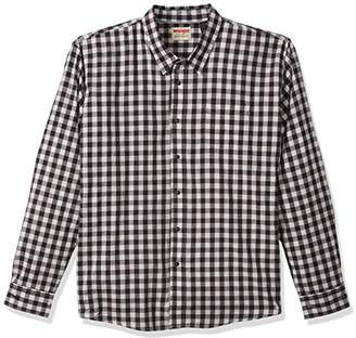 Wrangler Authentics Men's Big & Tall Long Sleeve Premium Gingham Shirt