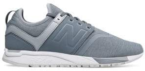 New Balance Women's 247 Silver Mink and White Textile Shoes