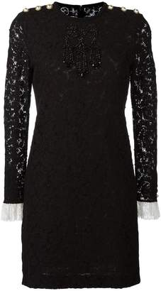 Gucci bead embroidered lace dress