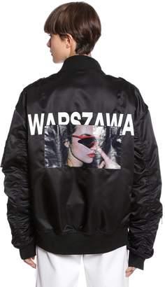 Misbhv Oversized Warszawa Printed Bomber Jacket