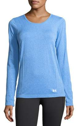 Under Armour Threadborne Seamless Long-Sleeve Performance Top, Medium Blue